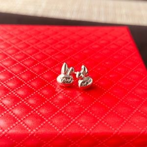 brand new 925 sliver bunny earring
